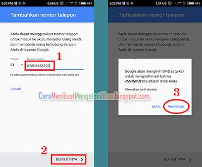 contoh cara membuat akun google lewat hp