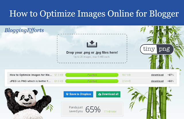 How to Optimize Images Online for Blogger
