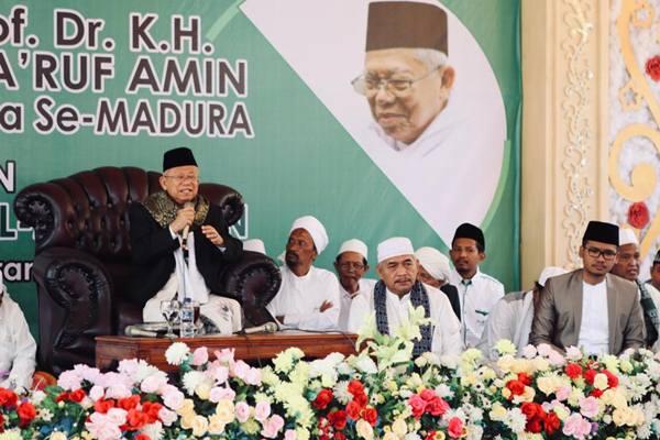 Tokoh Madura: Ma'ruf Amin Tak Disukai NU Jatim, di Madura Haram Pilih Jokowi