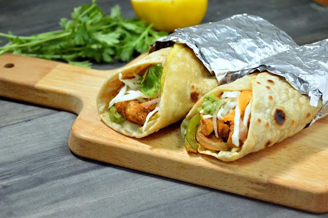 Tandoori Chicken Roll ~ Bollywich Roll