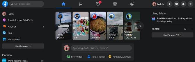 Mengubah Bahasa Di Tampilan Facebook Baru