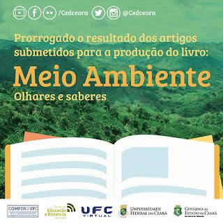 NOTA - Prorrogação da data do resultado dos trabalhos aprovados para a produção do Livro sobre o meio ambiente