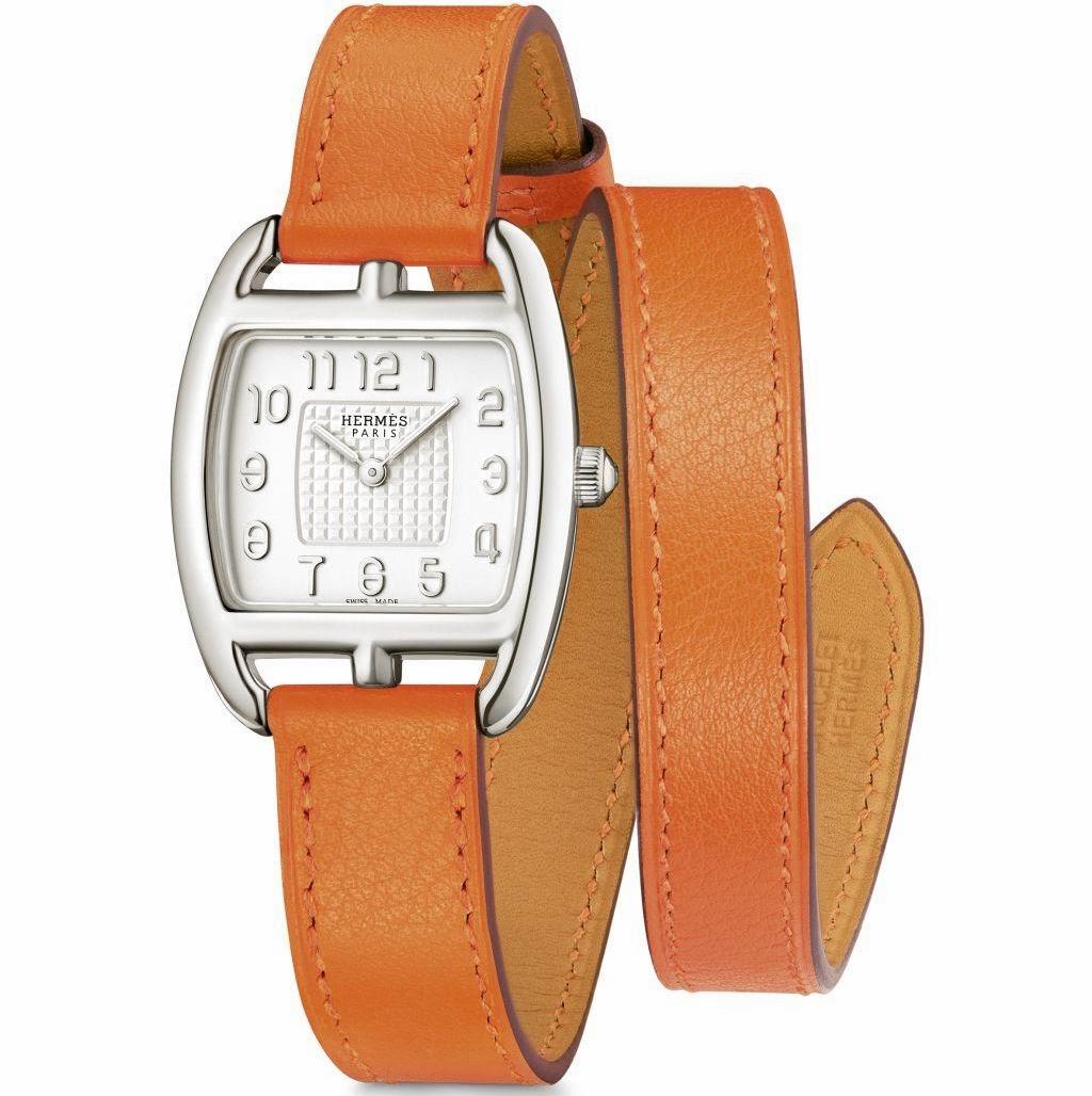 Hermès Cape Cod Tonneau PM Silver watch
