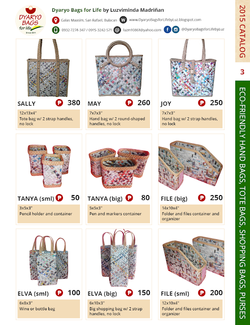 Dyaryo Bags for Life - Latest Product Catalog