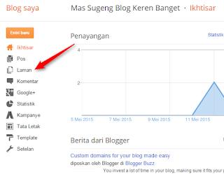 Cara Membuat Halaman Statis Blogger