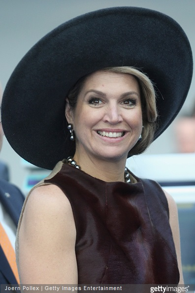 : Queen Maxima of of the Netherlands is seen at the Draeger Medical GmbH during her state visit on March 19, 2015 in Luebeck, Germany.
