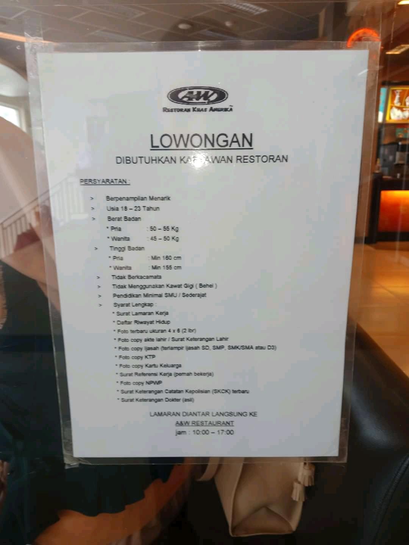 Lowongan Kerja A W Bandung Terupdate 2020 2021