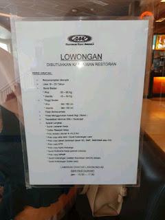 Lowongan Kerja A&W Bandung Restoran Terbaru 2020