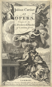Handel: Giulio Cesare, first edition of July 1724 printed by Cluer and Creake