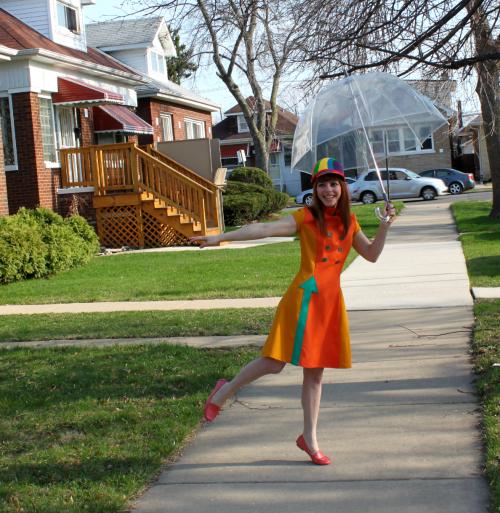 Manic Pop dress and Tanith Rowan helmet hat