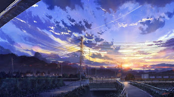 Anime, Sunrise, Scenery, Sky, Clouds, 4K, #222