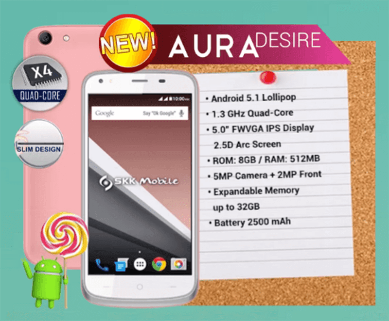 SKK Aura Desire Is A Slim Budget Phone With 2.5D Glass?