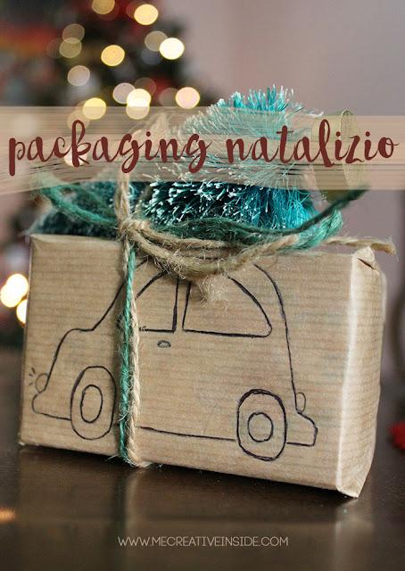 Packaging natalizio natale albero sulla macchina tree topped gifting idee facili mecreativeinside