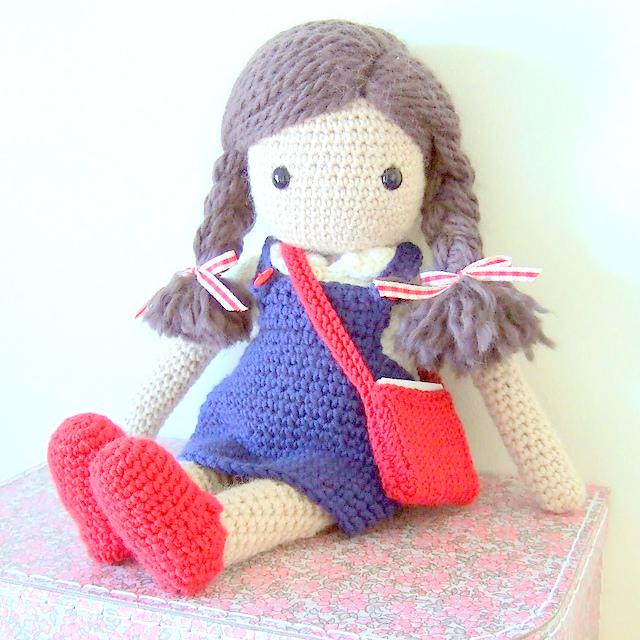 Crochet pattern amigurumi doll girl