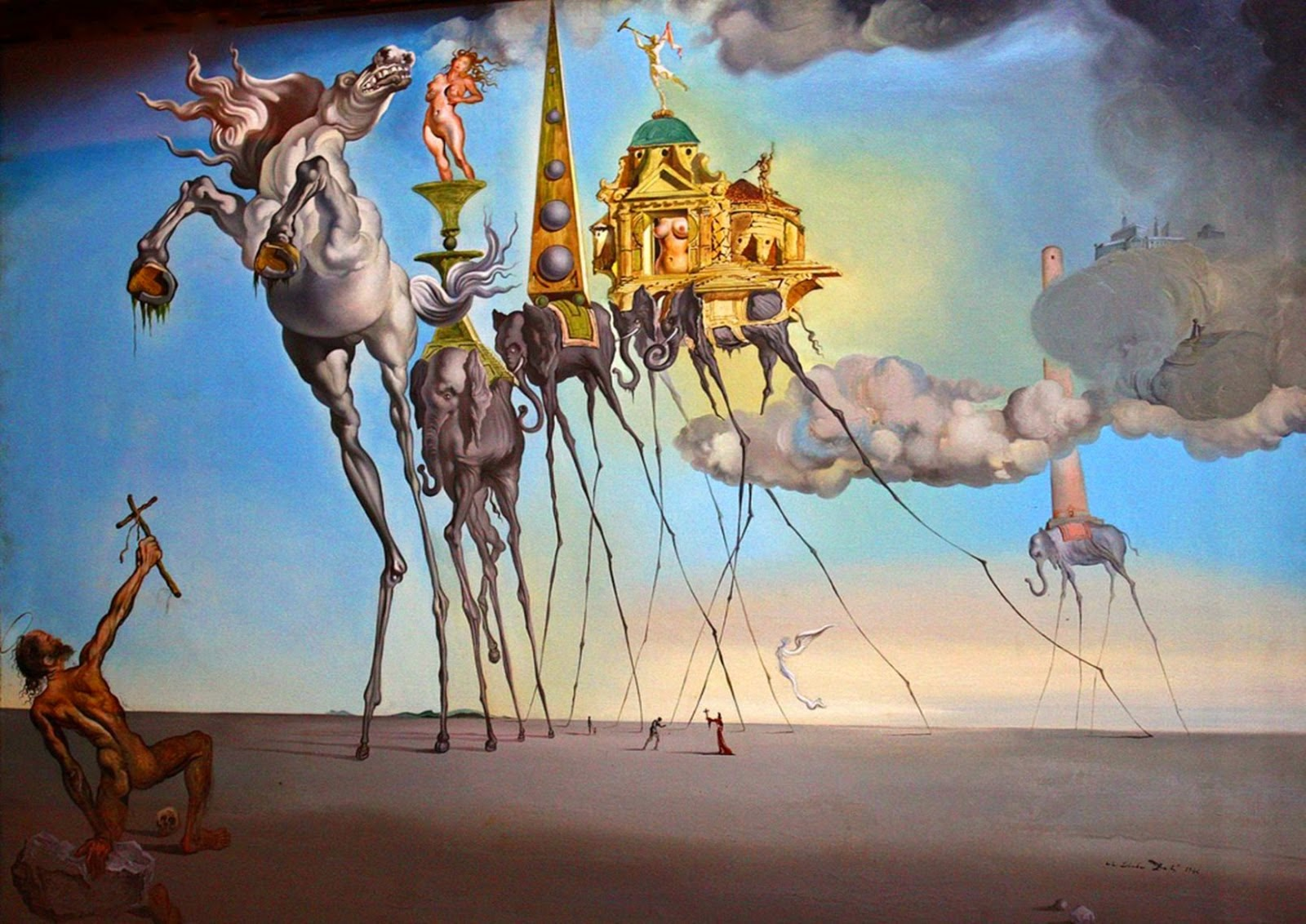 Dream Caused by the Flight of a Bee around a Pomegranate a Second Before Awakening by Salvador Dali