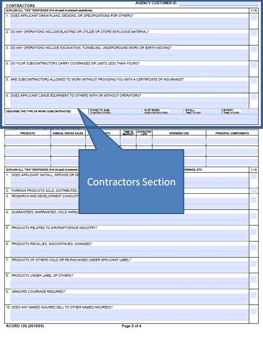 Simply Easier Acord Forms How To Complete The Acord 126 Contractors