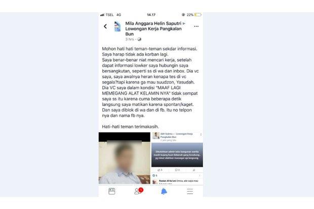 Waduh, Berniat Cari Loker di FB, Wanita Ini Justru Disuruh Tonton Video Call Mesum