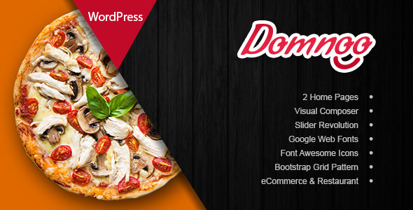 Domnoo 1.2.0 – Pizza & Restaurant WordPress Theme