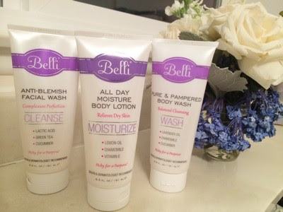 Facial Cleansing of Belli Skin Care Anti-Blemish