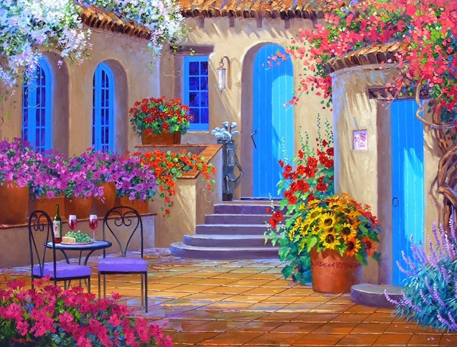 Pintura Moderna Y Fotografia Artistica Flores Cuadros Oleo Serie