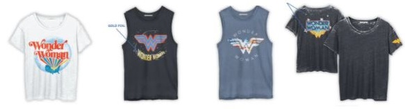 wonder women t-shirts