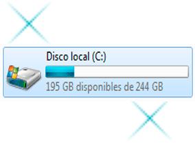Capacidad de almacenamiento en la unidad C del disco duro