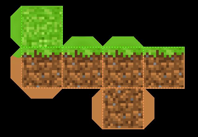 Caja Cubo para Imprimir Gratis de Fiesta de Minecraft.