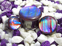 Dragonfly Wings Iridescent Colour Shifting Faux Dichro Plugs