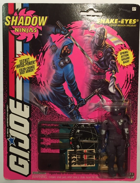 1994 Shadow Ninja Snake Eyes, Carded, MOC