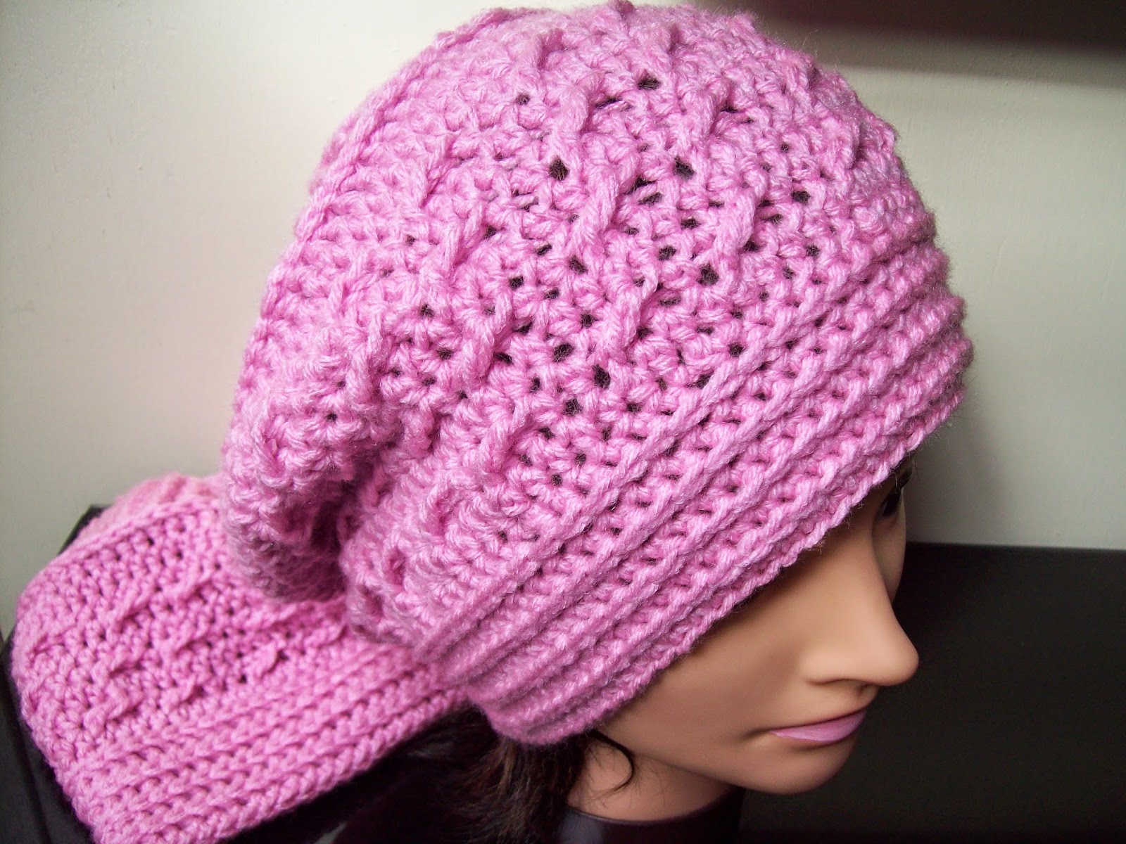 Small Pink Crochet Hat Pattern