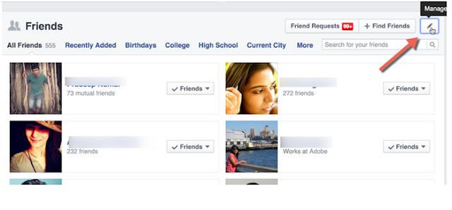 Cara Menyembunyikan ( Hide ) Daftar Teman Facebook dari Orang Lain, Begini Caranya;