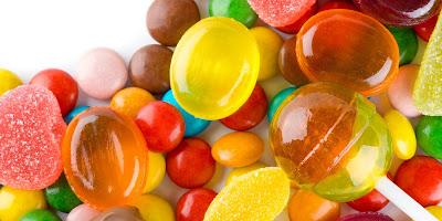 Hard candies damage teeth