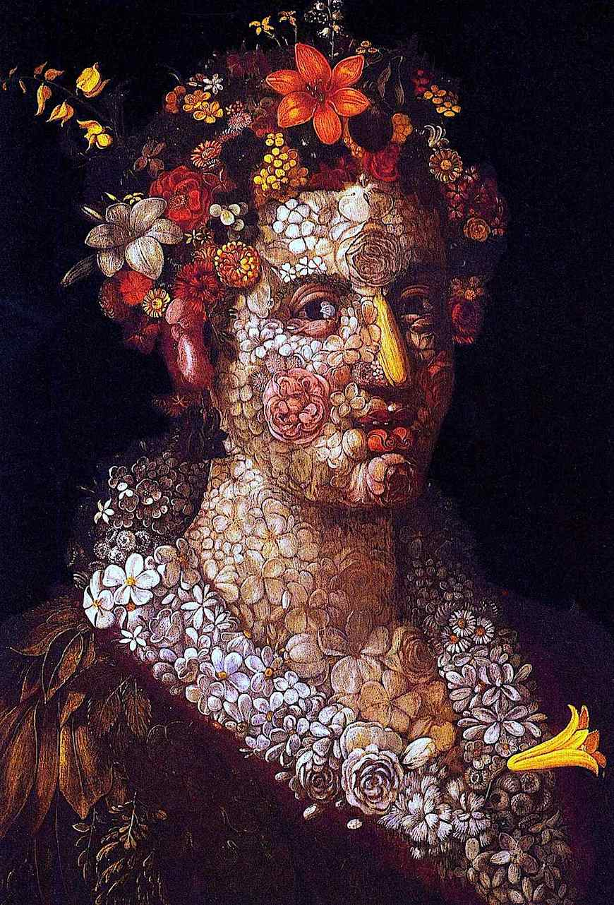 a Giueppe Arcimboldo painting, 1500s