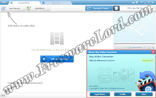 Lord of FreewaresLord of Freewares: Download Latest AnvSoft Any Video Converter 5.5.8 Standalone Offline Installer