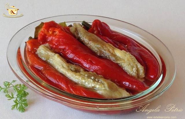 Salata de ardei copti cu vinete