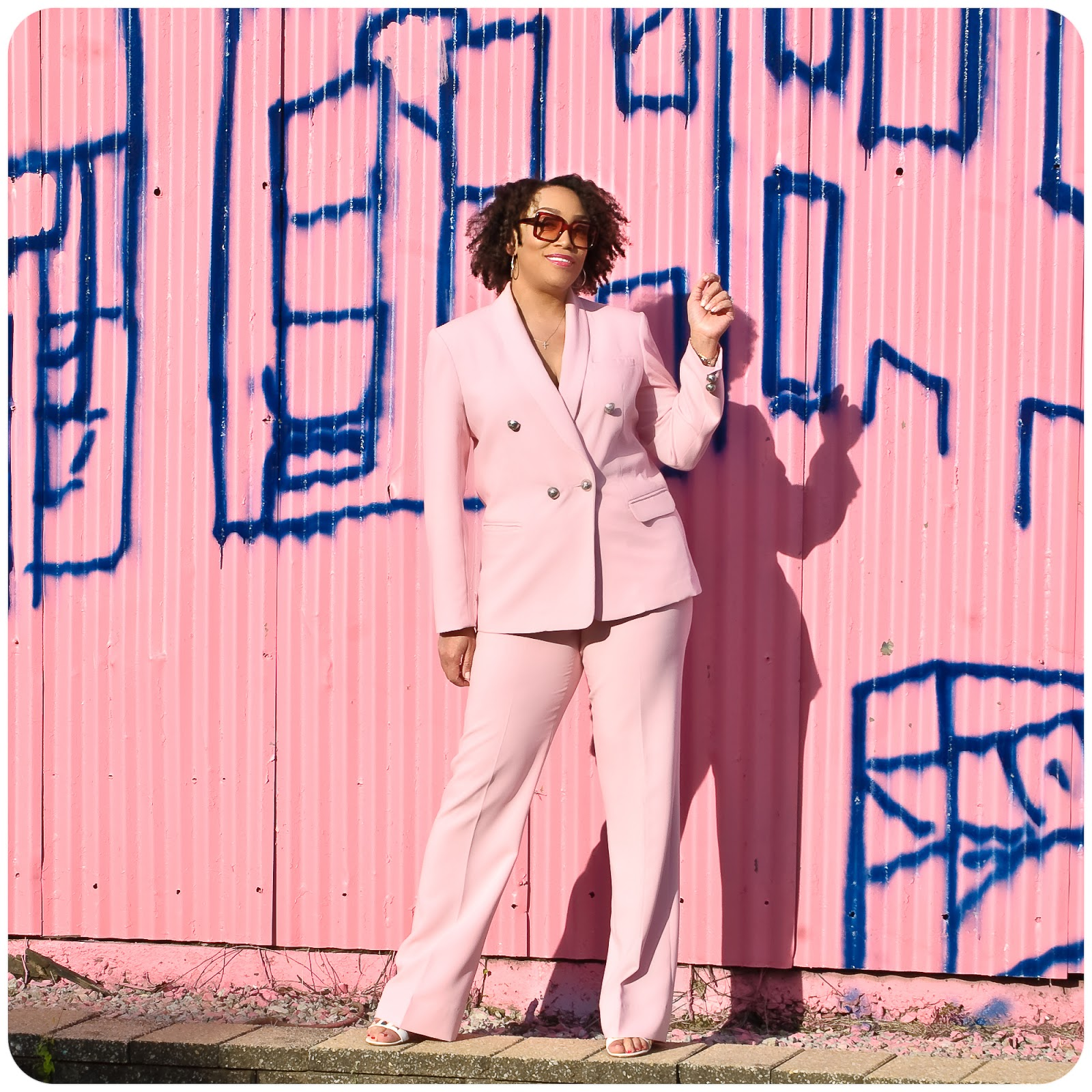 Pink Suit: Jacket - McCall's 2370; Pants - Vogue 9181 -- Erica Bunker DIY Style!