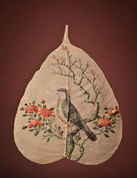 peepal leaf painting