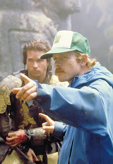 Val Kilmer y Ron Howard en el rodaje de Willow