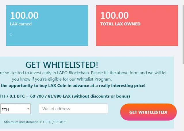 Nhận 100 LAPO LAX Token