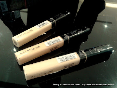 Maybelline Fit Me Concealers India all shades
