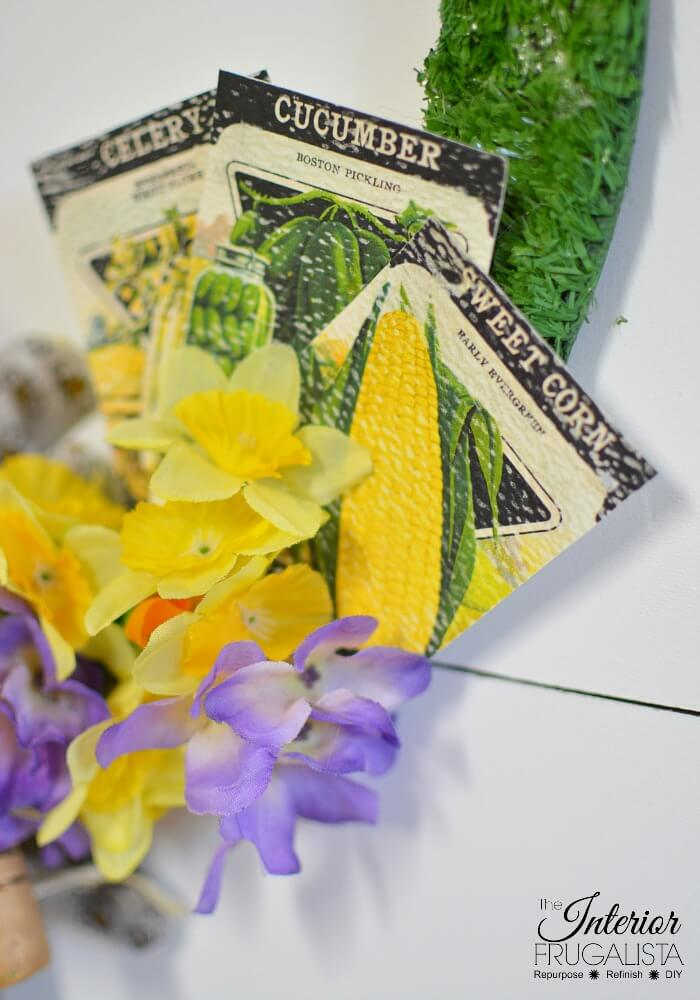 DIY Spring Wreath Vintage Seed Packets