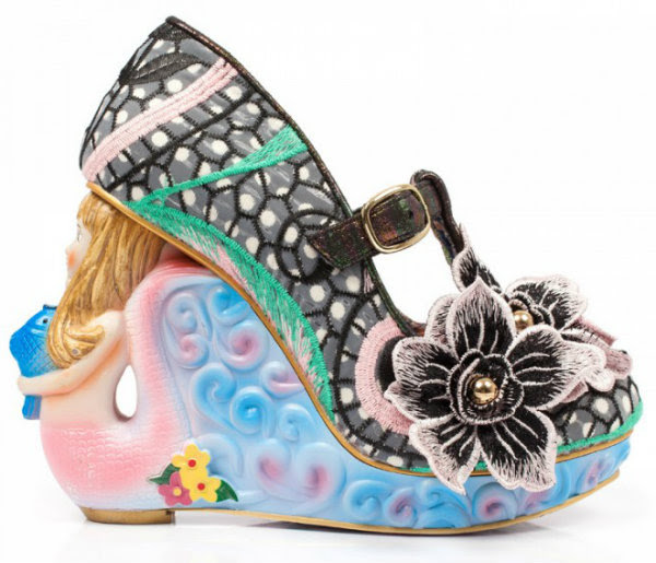 Irregular Choice aquata mermaid black
