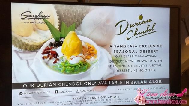 Sangkaya Durian Cendol