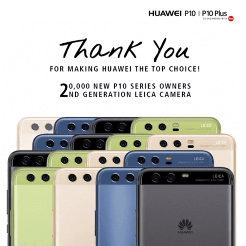 Huawei Has Sold More Than 20000 Units Of P10 And P10 Plus In PH