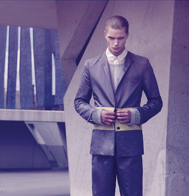 Linus Gustin in Selim de Somavilla by Greg Swales for Fashionisto Fall 2012