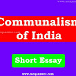 Communalism In India Essay about 150 words