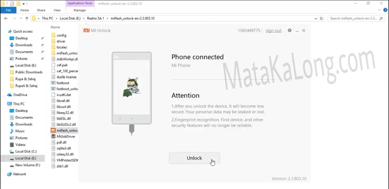 Cara Unlock Bootloader Xiaomi Redmi 5A