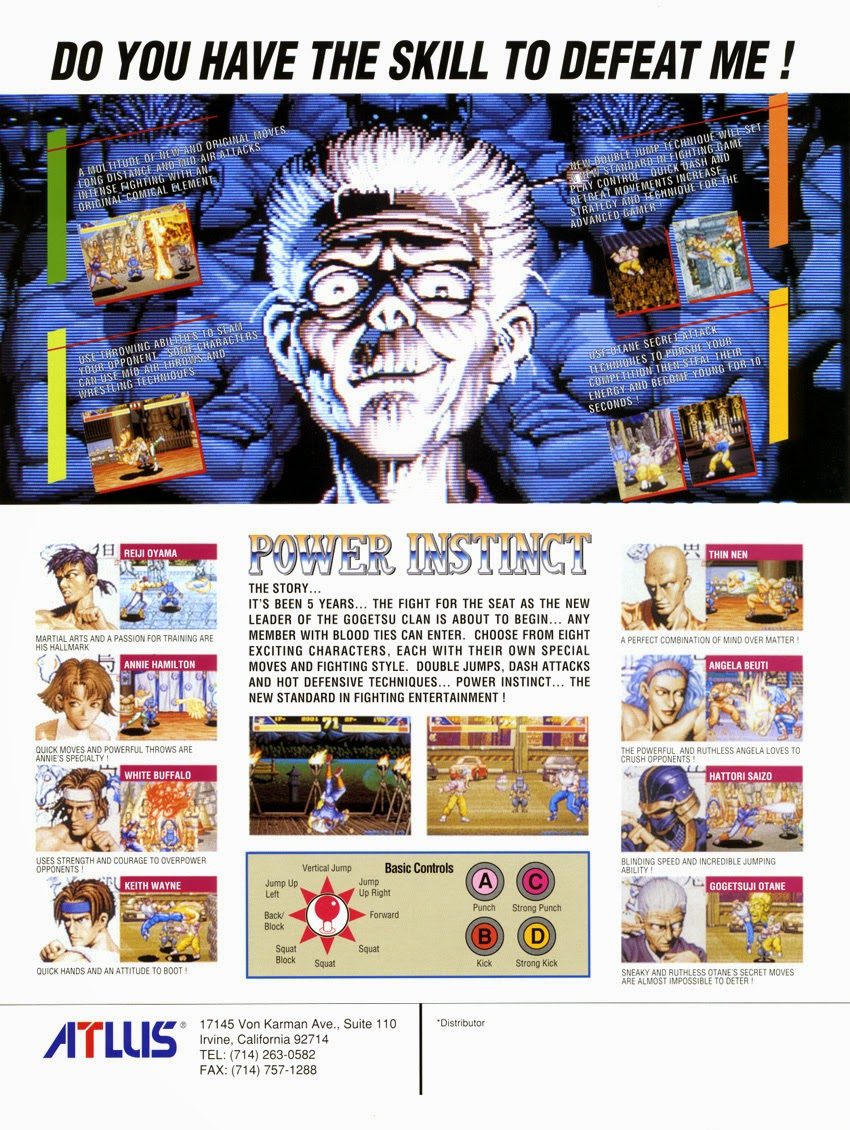 Power Instinct 2+arcade+game+lucha+portable+art+flyer