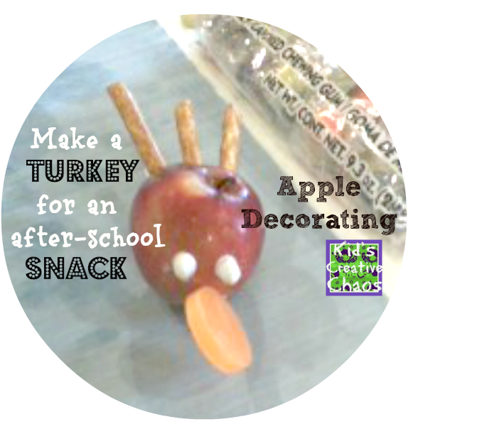 Turkey Apple Treats After-School Snack Activities for Preschool