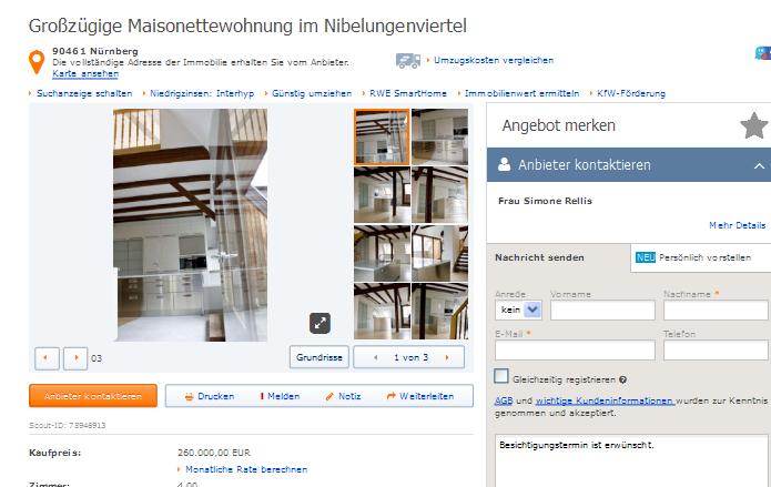 Wohnung Nuernberg Luitpoldhain